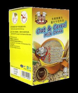 天然麦芽与麦片牛奶饮品